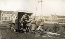 Wounded being unloaded at Zuydcoote, from the archive of the first world war Friends Ambulance Unit. One of many photos scanned for the forthcoming Channel 4 programme – Not forgotten – the Men Who Wouldn't Fight. Photo courtesy Friends House Library.